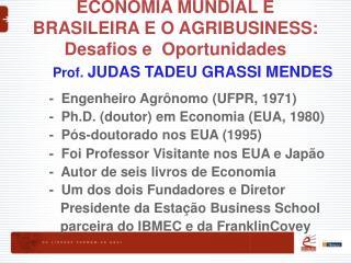 ECONOMIA MUNDIAL E BRASILEIRA E O AGRIBUSINESS: Desafios e  Oportunidades