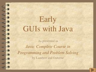 Early GUIs with Java