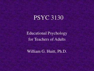 PSYC 3130