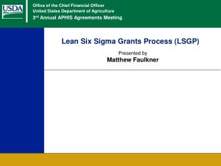 Lean Six Sigma Grants Process LSGP