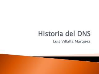 Historia del  DNS