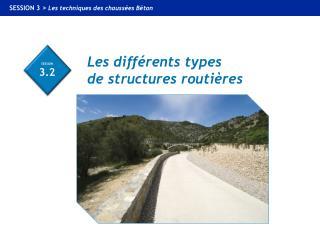 Les différents types  de structures routières