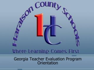 Georgia Teacher Evaluation Program Orientation