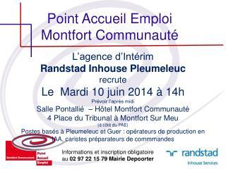 Point Accueil Emploi Montfort Communauté