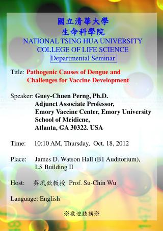 Title: Pathogenic Causes of Dengue and             Challenges for Vaccine Development