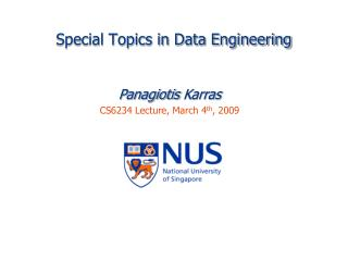 Special Topics in Data Engineering