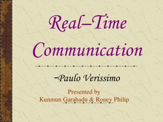 Presented by Kunmun Garabadu & Roney Philip