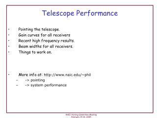 Telescope Performance