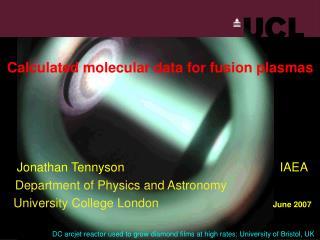 Calculated molecular data for fusion plasmas