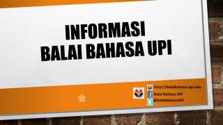 INFORMASI BALAI BAHASA UPI