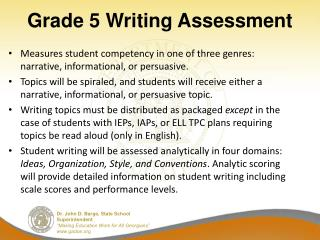 Grade 5 Writing Assessment