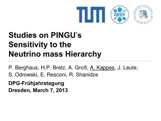 Studies on PINGU ' s Sensitivity to the  Neutrino mass Hierarchy