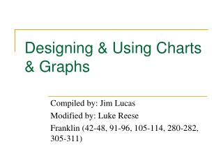 Designing  Using Charts  Graphs