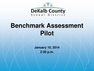 Benchmark Assessment Pilot