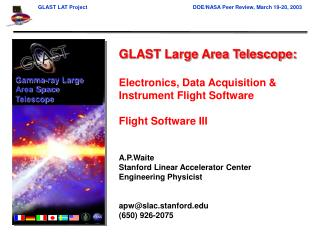 GLAST Large Area Telescope: Electronics, Data Acquisition & Instrument Flight Software
