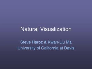 Natural Visualization