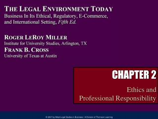 CHAPTER 2 Ethics and Professional Responsibility