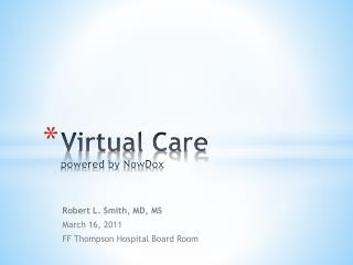 Virtual Care powered by  NowDox