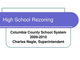 High School Rezoning