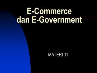 E-Commerce dan E-Government