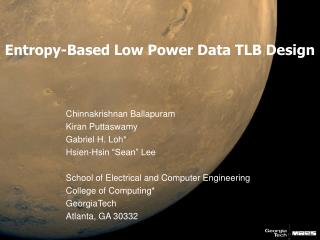 Entropy-Based Low Power Data TLB Design