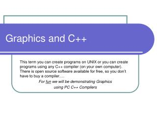 Graphics and C