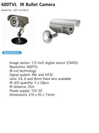 600TVL  IR Bullet Camera