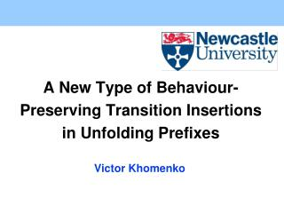 A New Type of Behaviour-Preserving Transition Insertions in Unfolding Prefixes