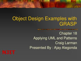 Object Design Examples with GRASP