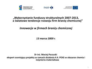 Dr inż. Maciej Paczuski