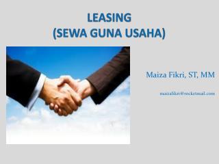 LEASING (SEWA GUNA USAHA)