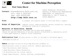 Center for Machine Perception