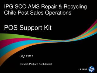 IPG SCO AMS Repair & Recycling  Chile Post Sales Operations