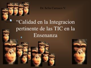 """""""Calidad en la Integracion pertinente de las TIC en la Ensenanza"""
