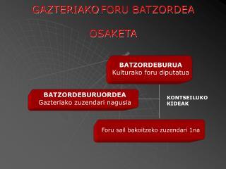 GAZTERIAKO FORU BATZORDEA  OSAKETA