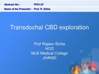Transdochal CBD exploration