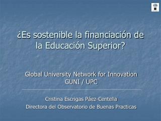 ¿Es sostenible la financiación de la Educación Superior?
