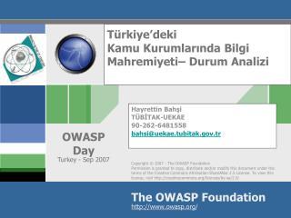 Türkiye'deki  Kamu Kurumlarında Bilgi Mahremiyeti– Durum Analizi