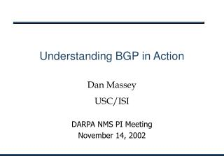 Understanding BGP in Action