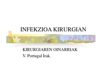 INFEKZIOA KIRURGIAN
