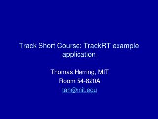 Track Short Course:  TrackRT  example application