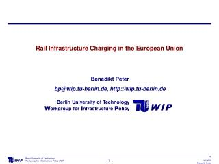 Rail Infrastructure Charging in the European Union