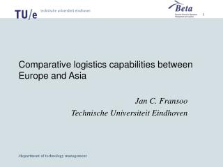 Comparative logistics capabilities between Europe and Asia