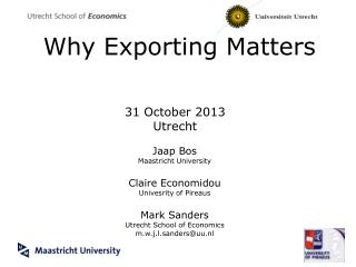 Why Exporting Matters