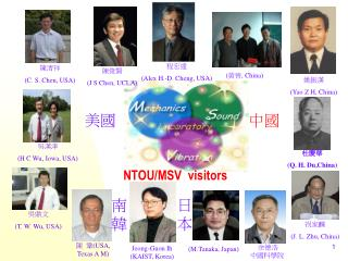 NTOU/MSV  visitors