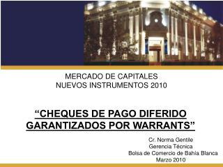 MERCADO DE CAPITALES NUEVOS INSTRUMENTOS 2010