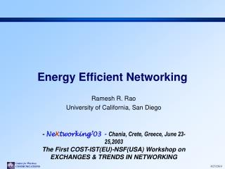 Energy Efficient Networking