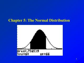 Chapter 5: The Normal Distribution