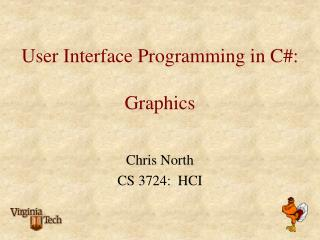 User Interface Programming in C:  Graphics