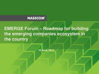 EMERGE Forum  – R oadmap for building the emerging companies ecosystem in the country